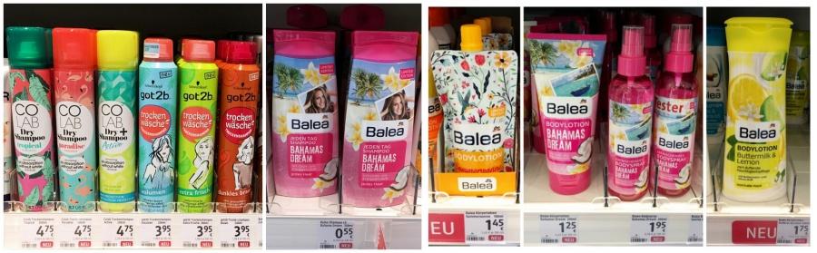 Colab Dryshampoo - got2b Trockenshampoo - Balea Bahams Dream Shampoo - Balea Bodylotion Sommersonne - Balea Bahams Dream Bodylotion und Bodyspray - Balea Bodylotion Zitrone Buttermilch