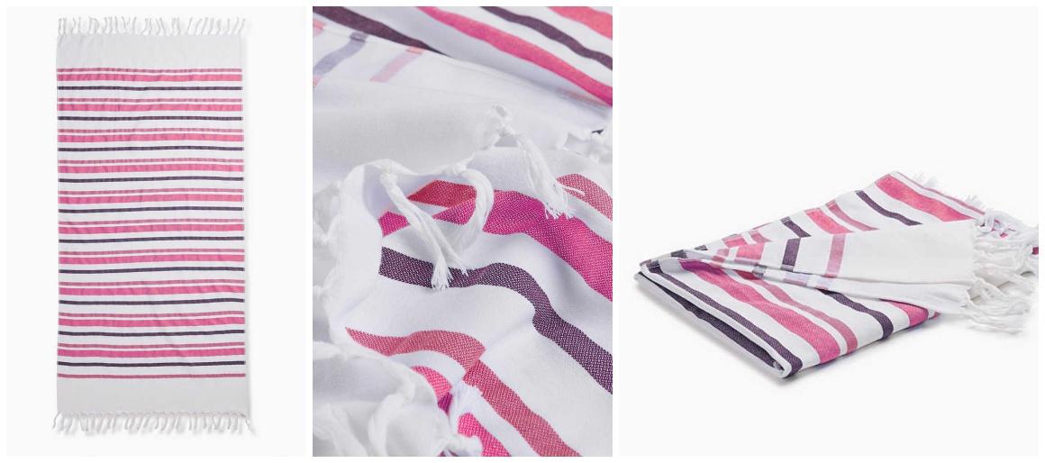 Meine liebsten Strandaccessiores - Strandtuch mit rosa Streifen